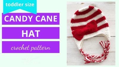 candy cane hat crochet pattern tutorial