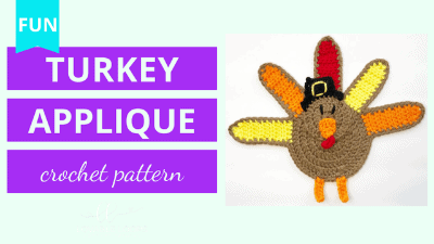 turkey applique crochet pattern tutorial