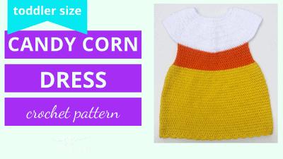 candy corn dress crochet pattern tutorial