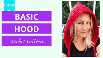 crochet hood crochet pattern tutorial