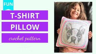 t shirt pillow crochet pattern tutorial