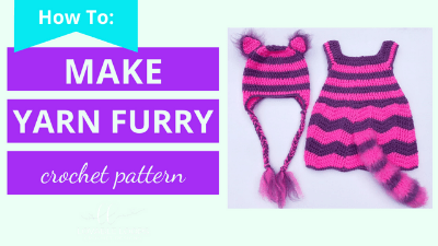 how to make yarn look furry crochet pattern tutorial