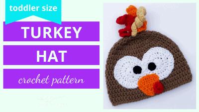 crochet turkey hat pattern tutorial