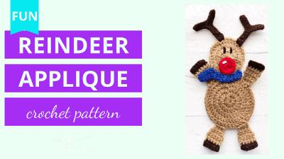 reindeer applique crochet pattern tutorial