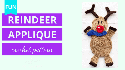 free reindeer applique crochet pattern video tutorial