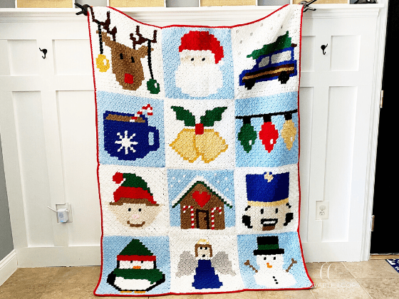 Christmas Blanket c2c Crochet Pattern Free