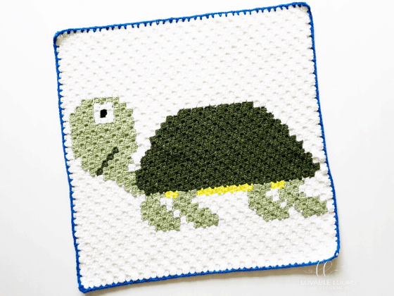 corner to corner turtle crochet pattern