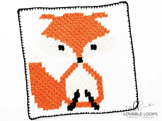 fox graph c2c crochet pattern free and easy