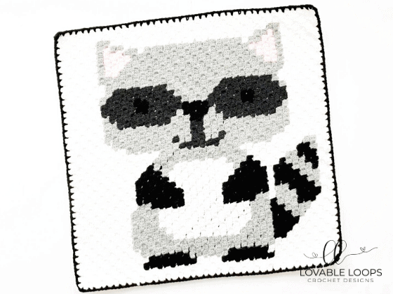 raccoon graph c2c crochet pattern free and easy