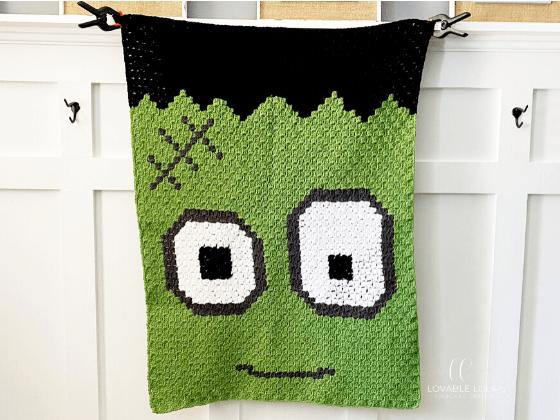 Frankenstein Blanket c2c Crochet Pattern Free