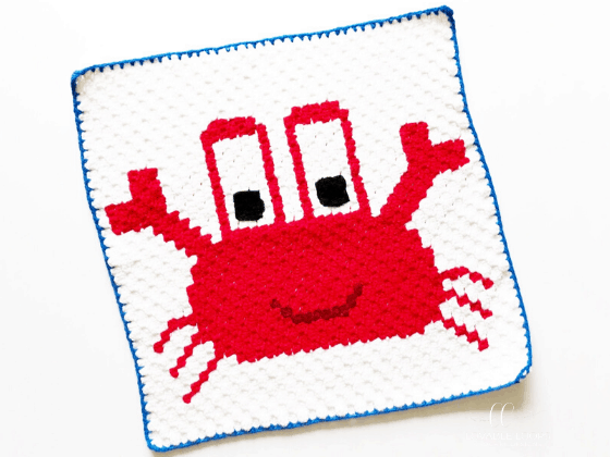 crab graph c2c crochet pattern free and easy