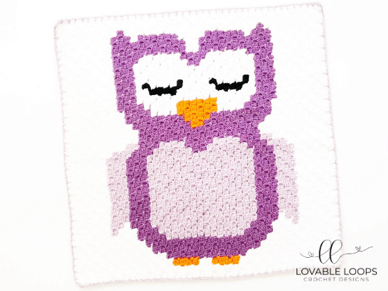 owl graph c2c crochet pattern free and easy