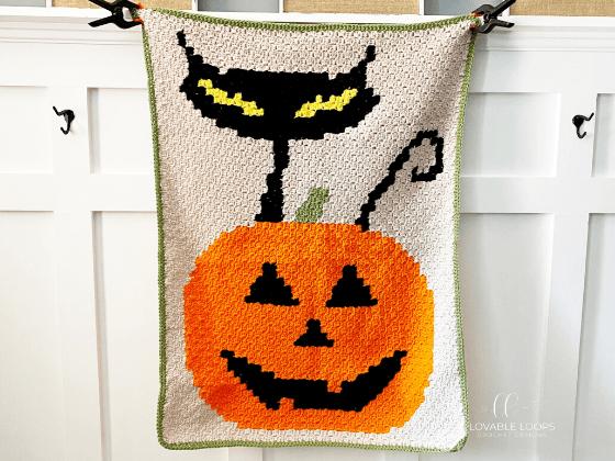 Halloween Blanket c2c Crochet Pattern Free