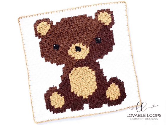bear graph c2c crochet pattern free and easy