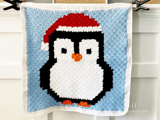 Christmas Penguin Blanket Crochet Pattern Free