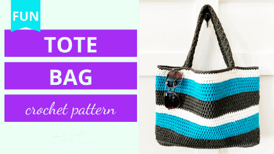summer tote bag crochet pattern tutorial