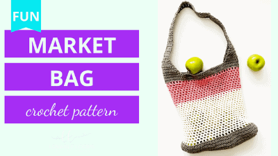 crochet market bag tote crochet pattern tutorial