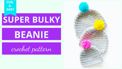 super bulky crochet hat pattern tutorial