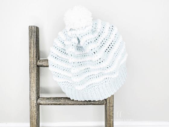 nordic ice beanie crochet pattern free