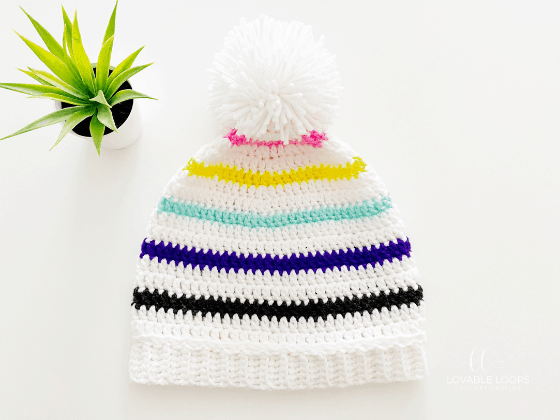 color pop beanie crochet pattern free
