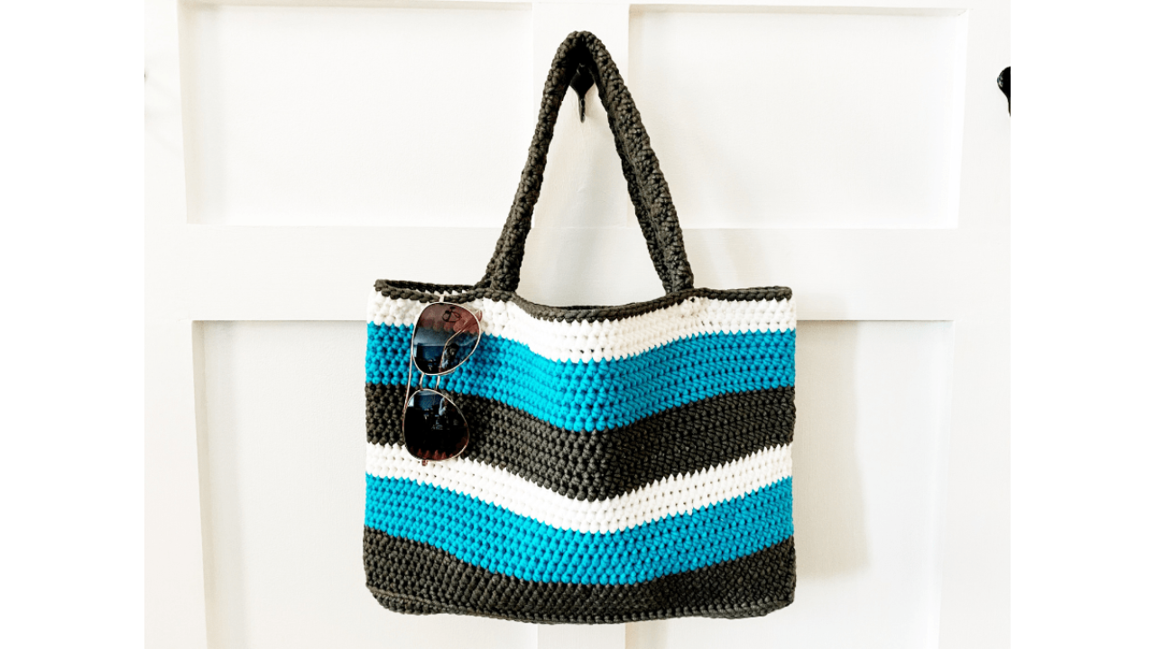 My Crochet Bag Large Crocheting Project Bag Eco-Friendly Tote Bag For Crochet Projects Weekender Bag for Crochet Lover Yarn Storage Tote