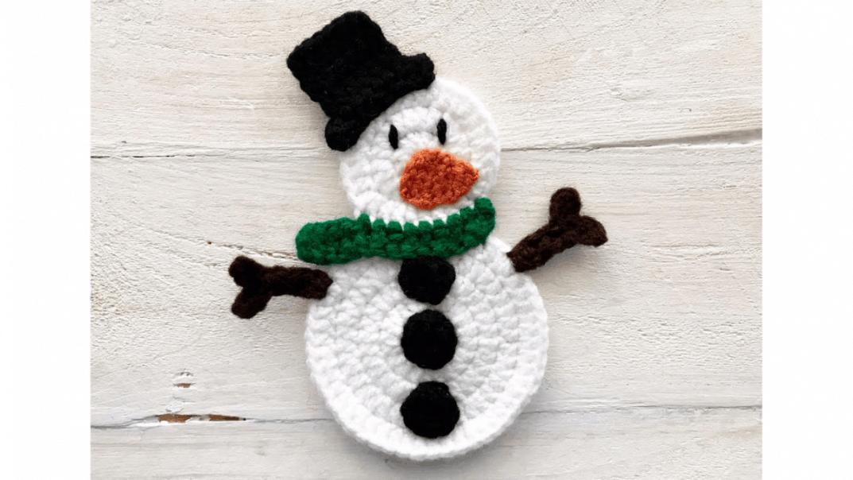 snowman applique crochet pattern