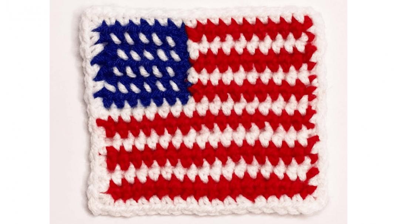 american flag applique crochet pattern