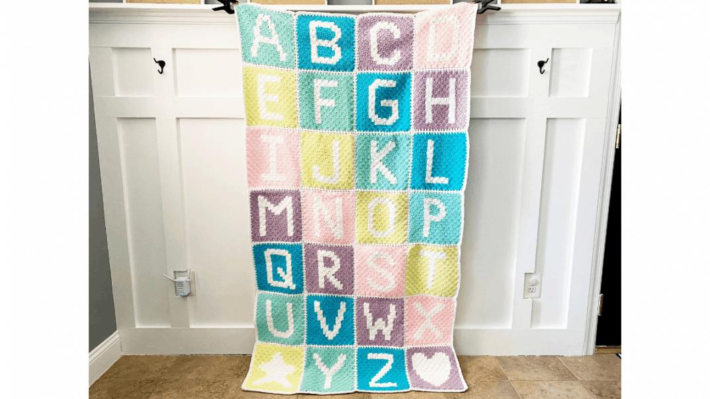 alphabet blanket free crochet pattern
