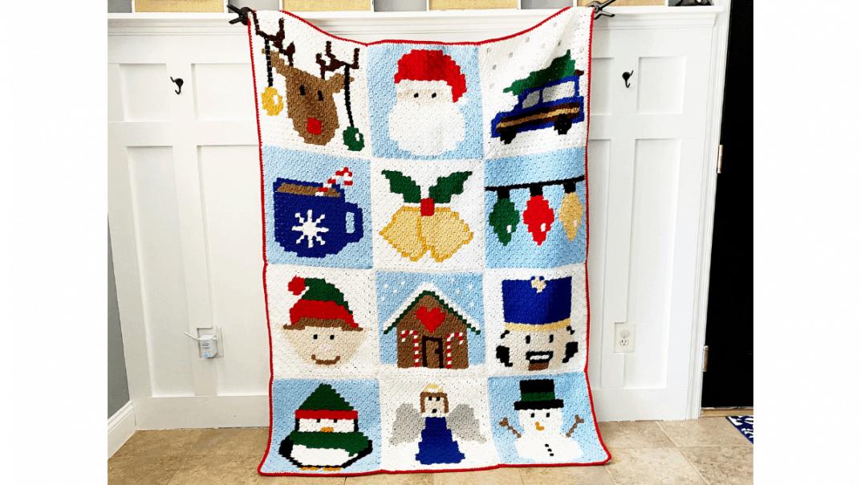 christmas blanket free crochet patternq