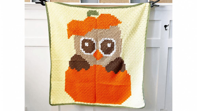 fall owl blanket crochet pattern
