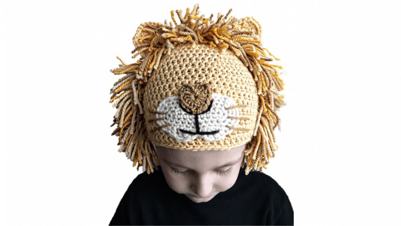 lion hat crochet pattern