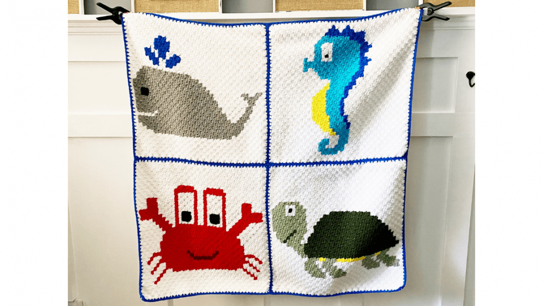 Crab Graph Free Crochet Pattern Sea Animal Crochet Baby Blanket
