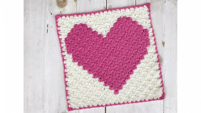 c2c heart graph crochet pattern