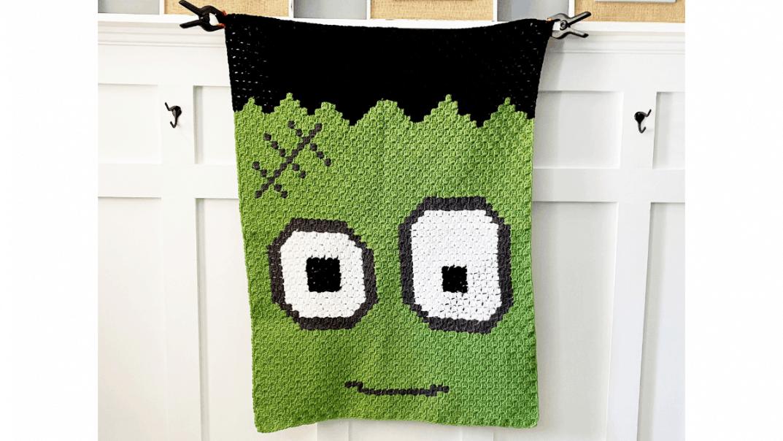frankenstein blanket free crochet pattern