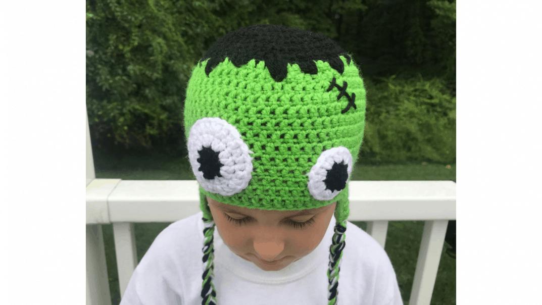 frankenstein hat crochet pattern