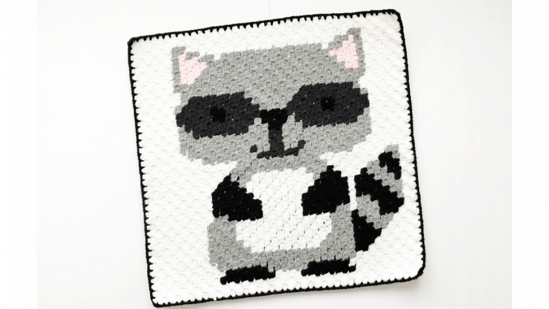 Crochet Raccoon C2c Baby Blanket Lovable Loops