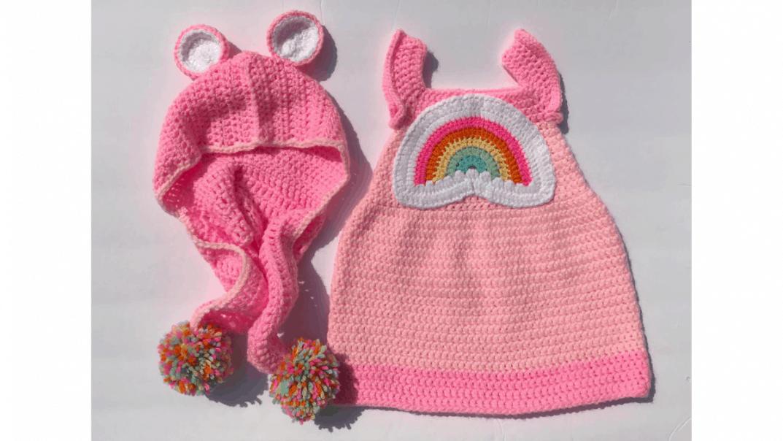 care bear hooded scarf crochet pattern