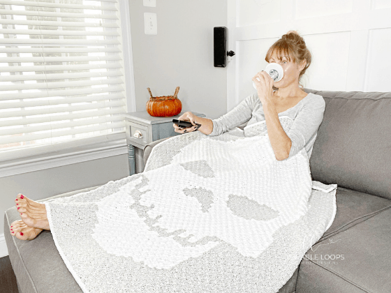 skeleton throw blanket crochet pattern