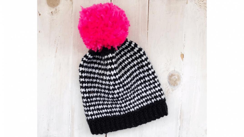 houndstooth beanie crochet pattern