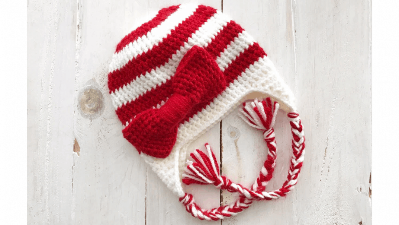 candy cane beanie crochet pattern