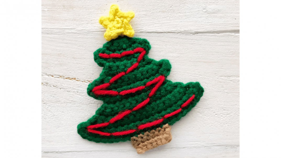 christmas tree applique crochet pattern