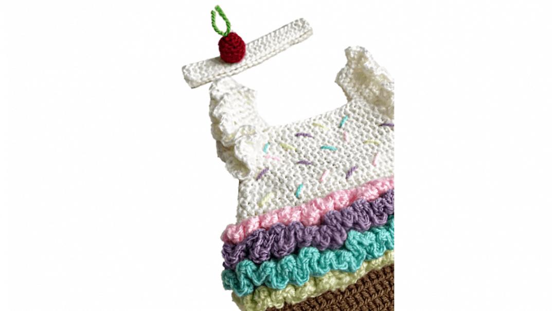 cupcake dress crochet pattern
