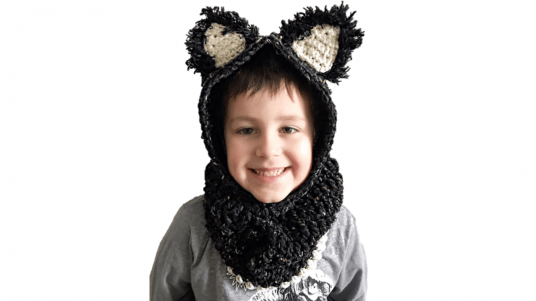 hooded cat cowl crochet pattern