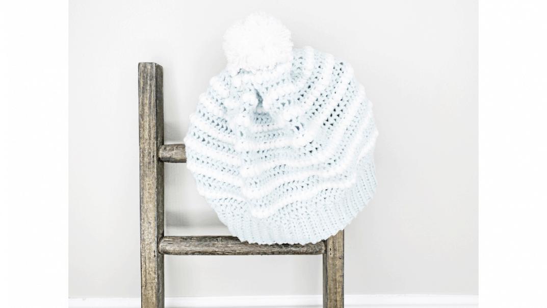nordic ice beanie free crochet pattern