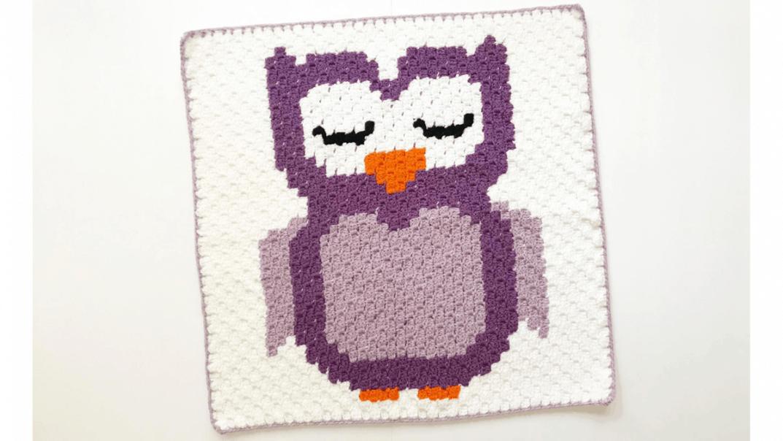 owl c2c crochet pattern