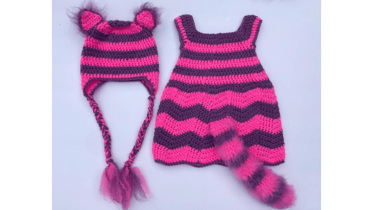 Crochet Cheshire Cat Halloween Costume