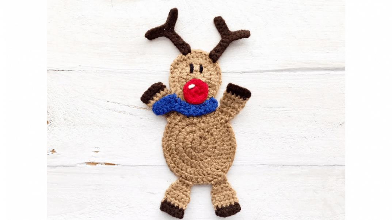 reindeer applique crochet pattern
