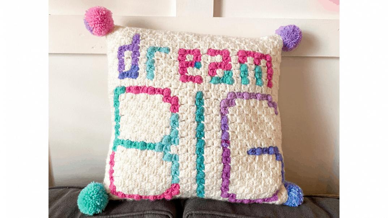 dream big pillow crochet pattern