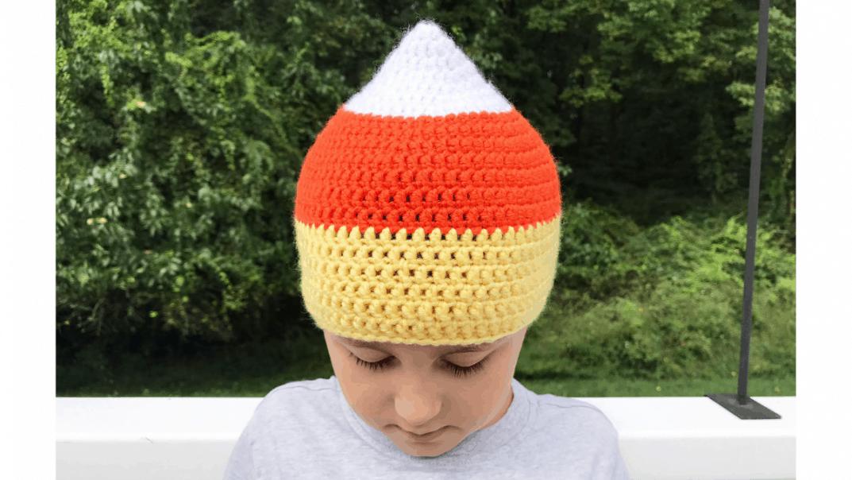 candy corn hat crochet pattern