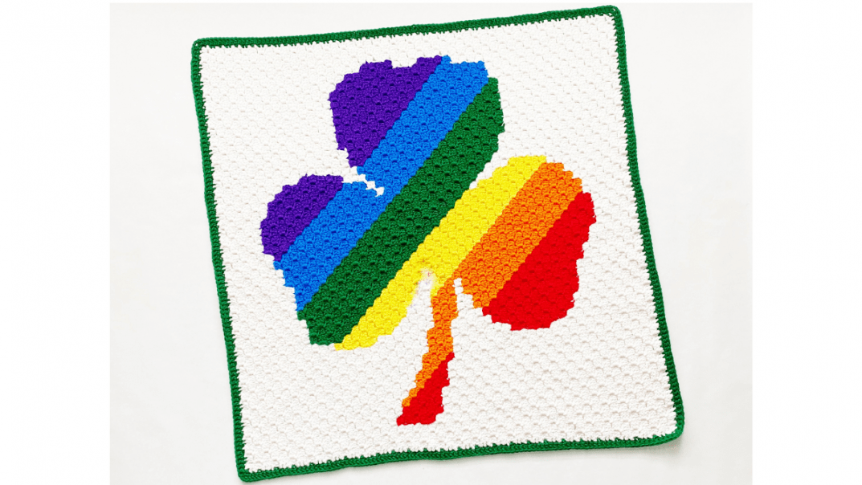 shamrock blanket crochet pattern